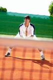 Sportsman playing tennis Stock Image