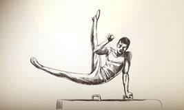 Sportsman | Pommel Horse Stock Photography
