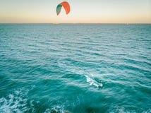 Sportsman practicing kay surf royalty free stock image