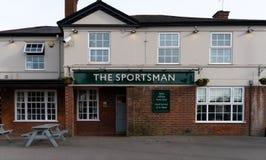 Sportsman Pub Entrance stock photography