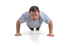 Sportsman pushups Stock Images
