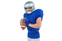 Sportsman ready to throwing the ball Royalty Free Stock Photo