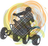 Sportsman riding quad bike Stock Photography