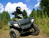Sportsman Riding Quad Bike Royalty Free Stock Photo