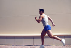 Sportsman running in the city, sport, workout, healthy lifestyle stock photography