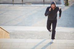 Sportsman running Royalty Free Stock Photo