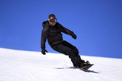 Sportsman - Snowboarder. Royalty Free Stock Photo