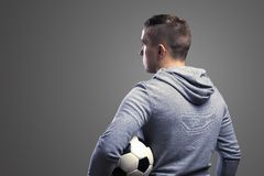 Sportsman with soccer ball Royalty Free Stock Images