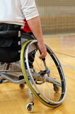 Sportsman in a sport wheelchair Stock Photo