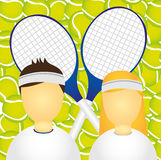 Sportsman and sportswoman Royalty Free Stock Photography