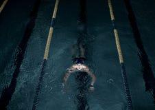 Sportsman in swimming pool Stock Photos