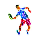 Sportsman throwing flying disc. Ultimate game Royalty Free Stock Image