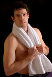Sportsman with towel Stock Photos