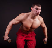 Sportsman during training Royalty Free Stock Photography