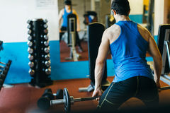 Sportsman training in gym Royalty Free Stock Photo