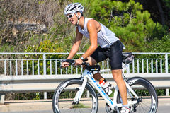 Sportsman. TRIATHLON Royalty Free Stock Image