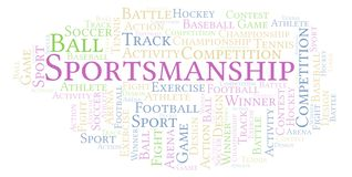Sportsmanship word cloud. Made with text only vector illustration