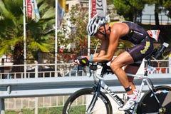 sportsmantriathlon Arkivfoto