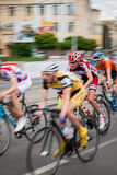 Sportsmen during bike competition Royalty Free Stock Photography