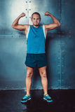 Sportsmen. fit male trainer man concept  fitness workout strenght power Royalty Free Stock Photos