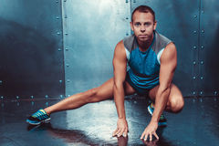 Sportsmen. fit male trainer man concept fitness workout strenght power. Stock Images