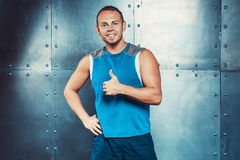 Sportsmen. fit male trainer man concept  fitness workout strenght power Stock Photo