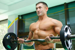 Sportsmen and gym Stock Photography