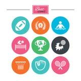 Sportspelen, fitness pictogram Voetbal, golf Royalty-vrije Stock Foto
