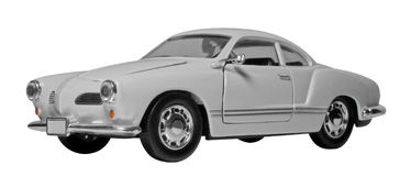 Sportspielzeugauto lokalisiert auf Weiß Lizenzfreies Stockfoto