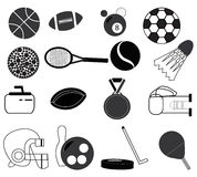 Sports items Royalty Free Stock Photo
