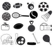 Sportss objekt stock illustrationer