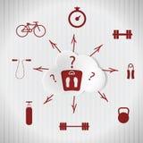 Sportsuchezugehörigkeit zu einem gesunden Lebensstil lizenzfreie abbildung