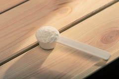 Sportsupplement, creatine, hmb, bcaa, aminozuur of vitamine Royalty-vrije Stock Foto's