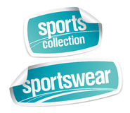 Sportswear collection stickers Stock Image