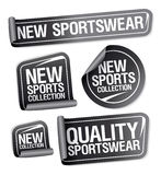 Sportswear collection stickers. Stock Images