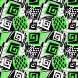 Sportswear druk, młodość bezszwowy wzór, jaskrawy dynamiczny geometr ilustracji