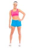 sportswear för sund stående för flicka le Royaltyfri Bild