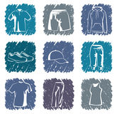 Sportswear icons Stock Photo