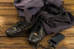 Sportswear och tillbehör Arkivfoto