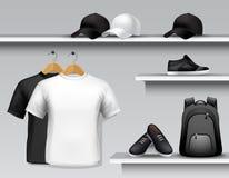 Sportswear półka sklepowa royalty ilustracja