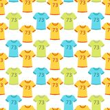 Sportswear running clothes runner gears for sport workout seamless pattern background vector illustration Stock Image