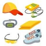Sportswear running clothes runner gears for sport workout vector illustration Stock Photo