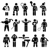 Sportswear Sports Attire Clothing. A set of pictogram representing sports attire Royalty Free Stock Image