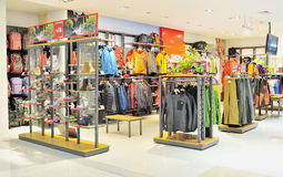 Sportswear store royalty free stock photos