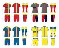 Sportswear Uniform Vector Set Royalty Free Stock Images