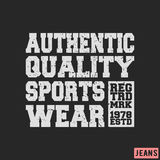 Sportswear vintage stamp Stock Image