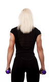 Sportswoman from behind Stock Photo