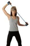 Sportswoman com faixa da resistência Foto de Stock Royalty Free