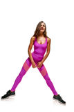 Sportswoman doing fitness Royalty Free Stock Images