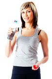 Sportswoman Drinking Water Royalty Free Stock Photos